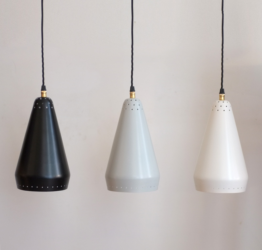 1950s pendant lights by Courtney Pope