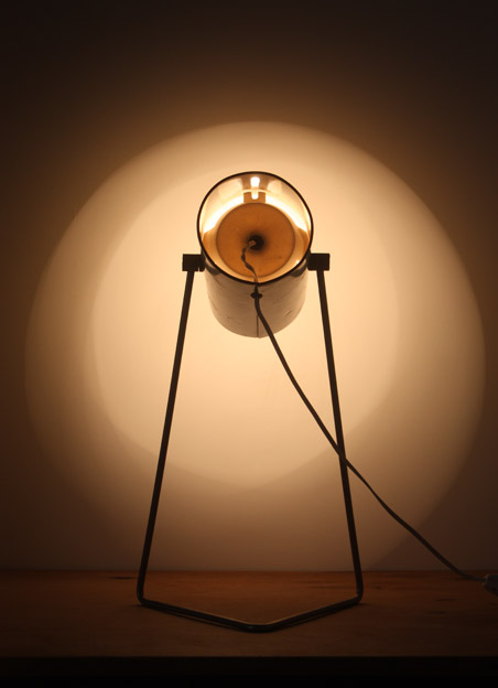 1960s lamp by John Brown for Plus Lighting