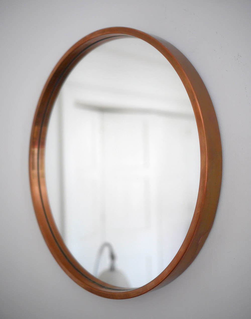 1960s Swedish Glasmaster copper mirror