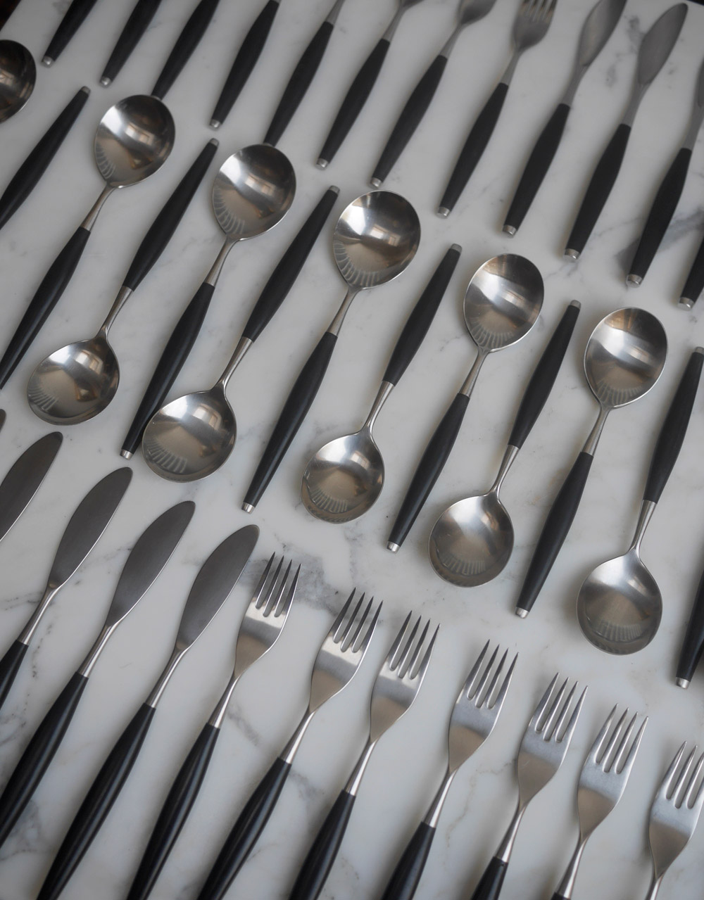 1960s Safir cutlery by Wallin Brothers, Sweden