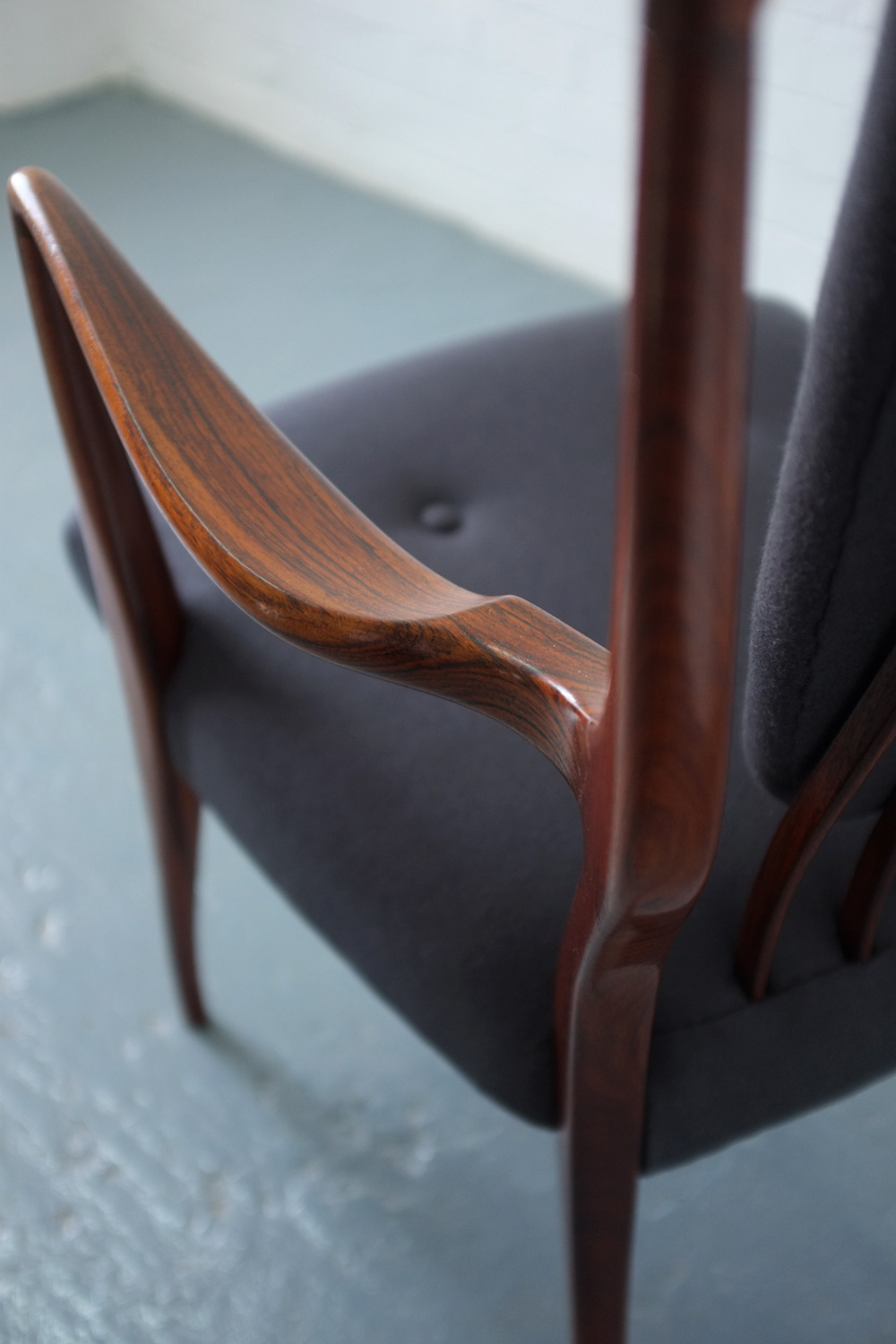 1940s rosewood chairs by AJ Milne