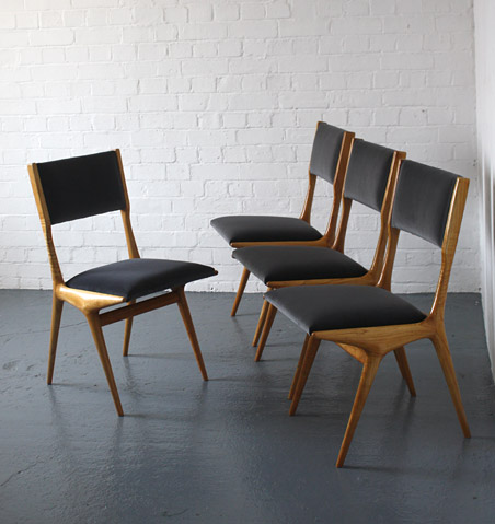 1950s Italian chairs by Carlo di Carli