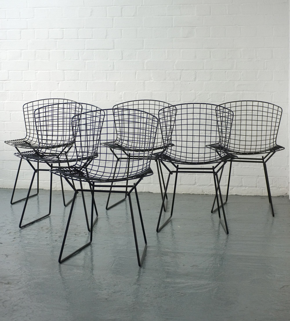 Harry Bertoia 420c side chairs for Knoll