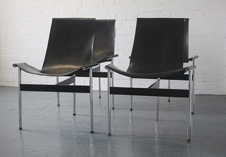 T-chairs by William Katavolos, Douglas Kelly and Ross Littel