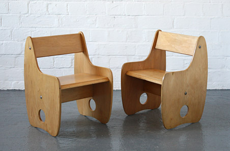 1960s plywood children's chairs