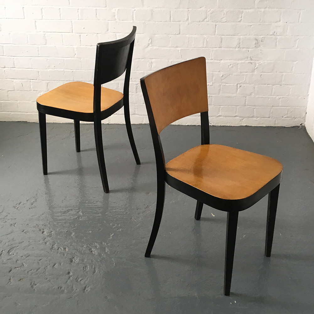 1930s plywood Thonet dining chairs