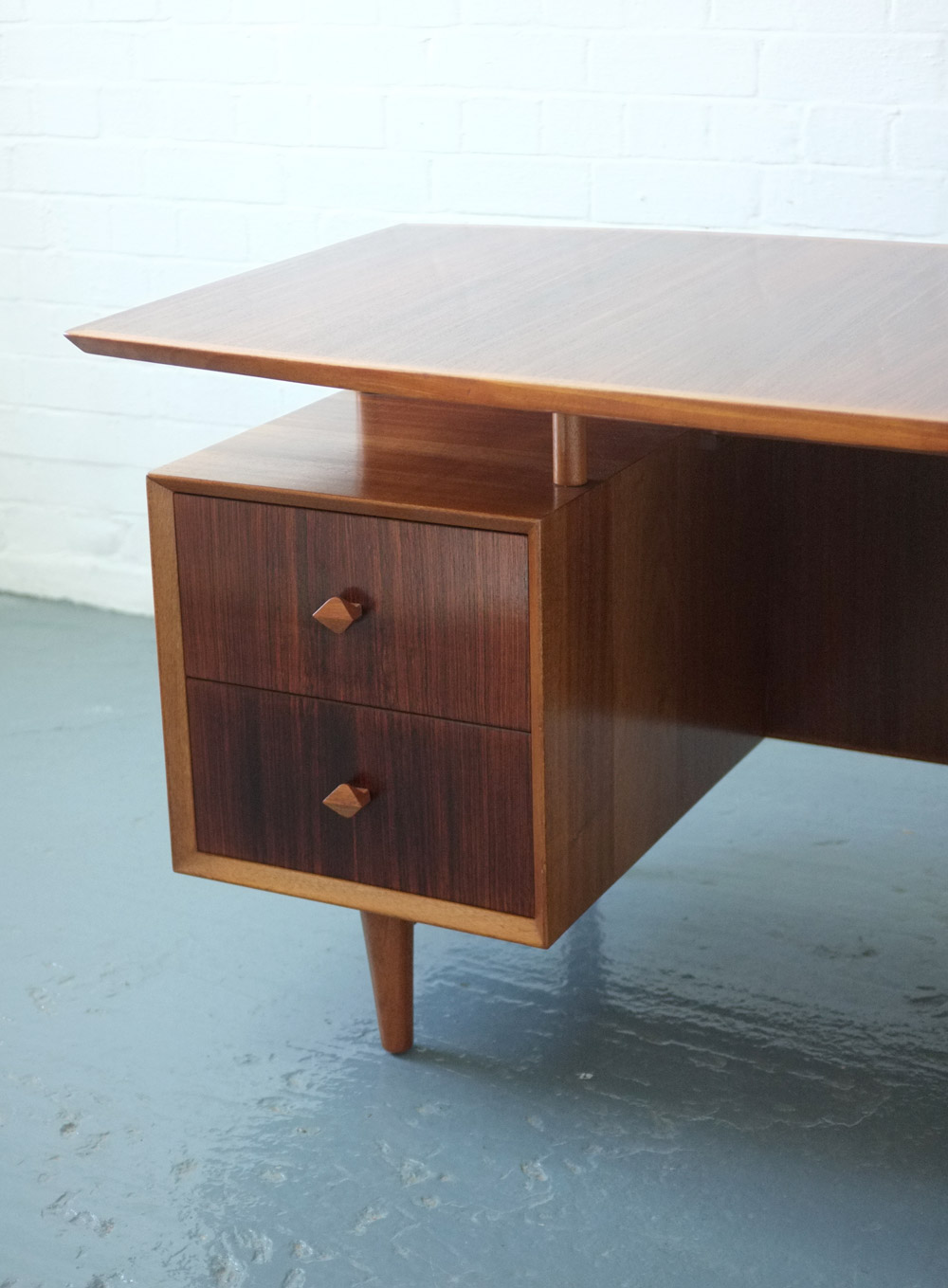 1950s rosewood desk by Heals