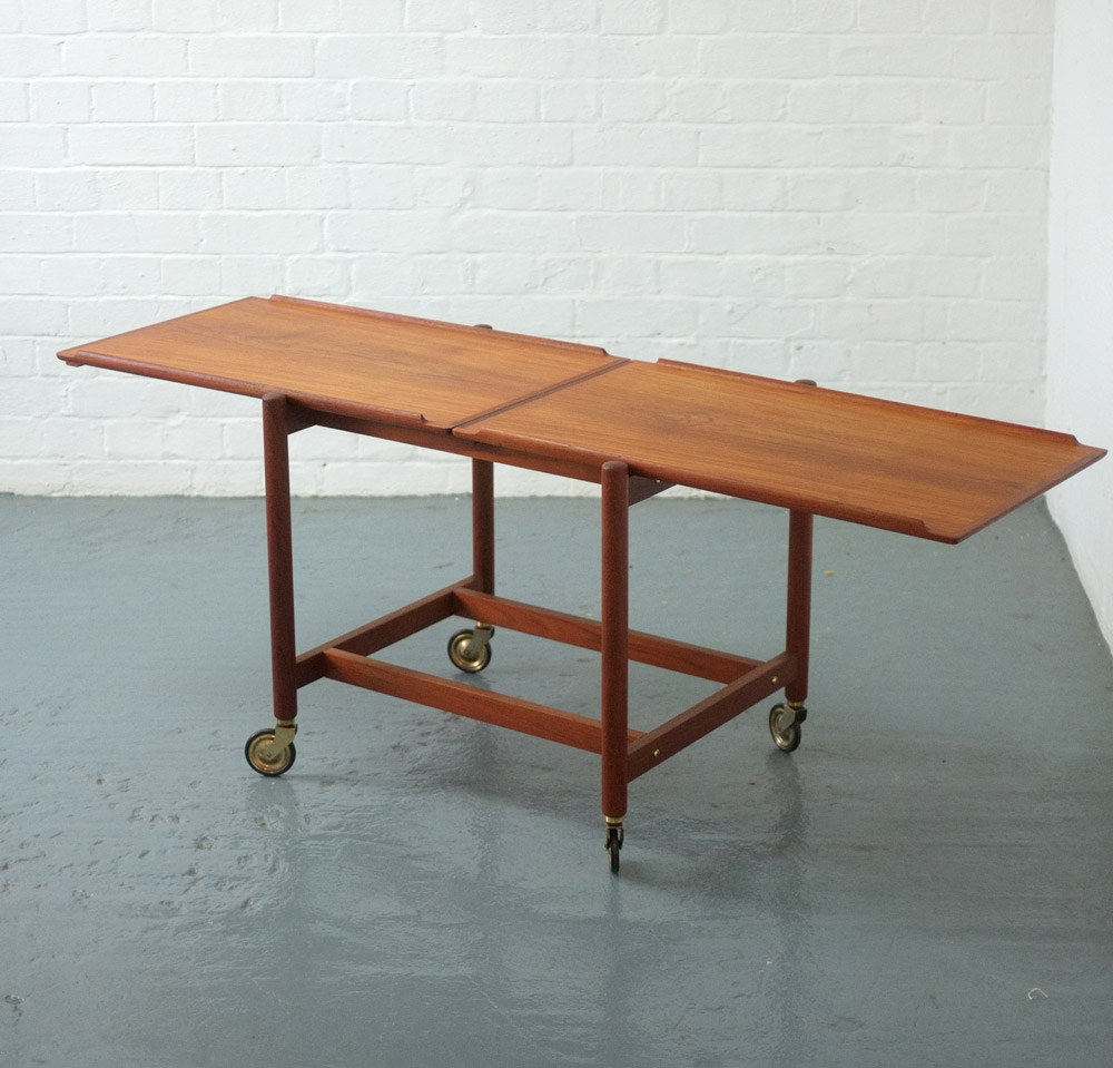 Danish teak trolley by Poul Hundevad