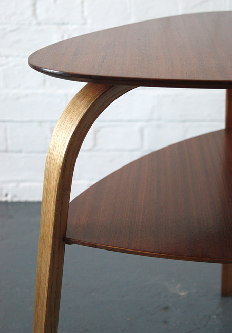 Bow-wood table by Hugues Steiner
