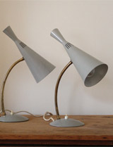 Pair of 1950s lamps by GA Scott for Maclamp