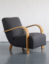 1930s modernist Heals Sycamore chair