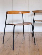 A pair of C20 chairs by Terence Conran