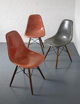DSW (dowel base) chairs by Charles Eames