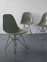 Seafoam Eiffel tower chairs by Charles Eames