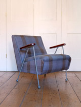 Rare ernest Race woodpecker armchair