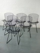 Harry Bertoia wire side chairs